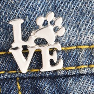 Jewelry - Adorable Love Dog  Cat Paw Pin Brooch Pet Paw -New 44411dc347f6